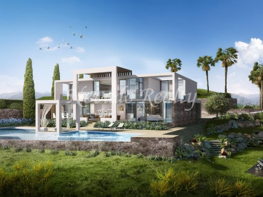 Brand new luxury villas with sea views in Santa Clara Golf Marbella