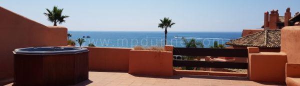 Bank Sale Front LIne Beach Duplex Penthouse Apartment Marbella