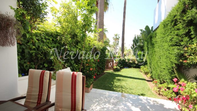 Beautiful townhouse on three floors situated on Marbella mountain side, near the town.