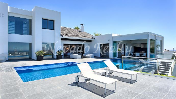 Contemporary style villa for sale with panoramic sea views
