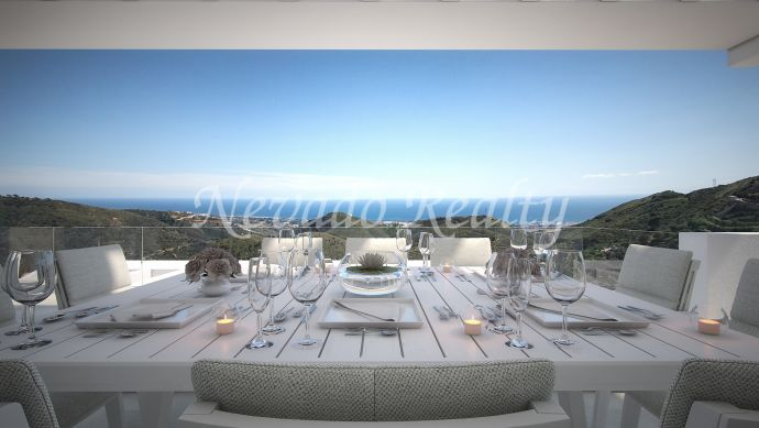 Brand new apartment for sale with panoramic views of the sea and nature