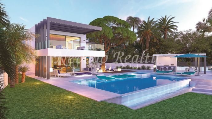 Brand new beachside villa for sale with sea views in Marbesa