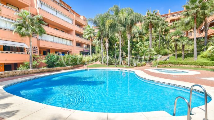 1 bedroom ground floor apartment on the Golden Mile of Marbella