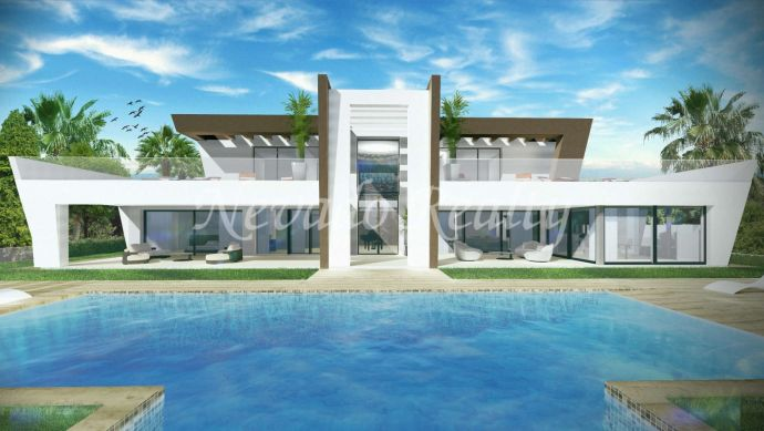 Magnificent brand new villa within Golf Resort with open views to the sea