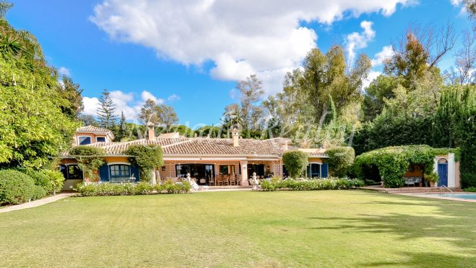 Villa on one floor with guest house and private pool in the heart of Marbella