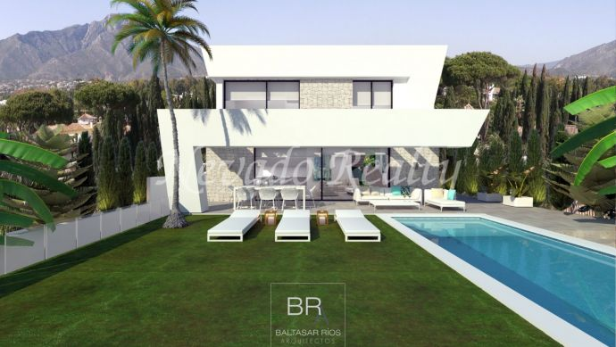New modern villa project for sale with sea views
