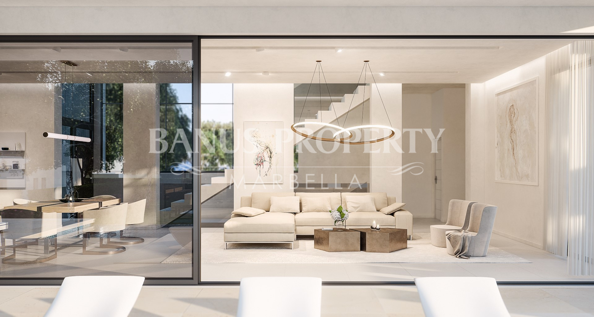 Luxury contemporary three bedroom villa for sale just five minutes from Puerto Banús