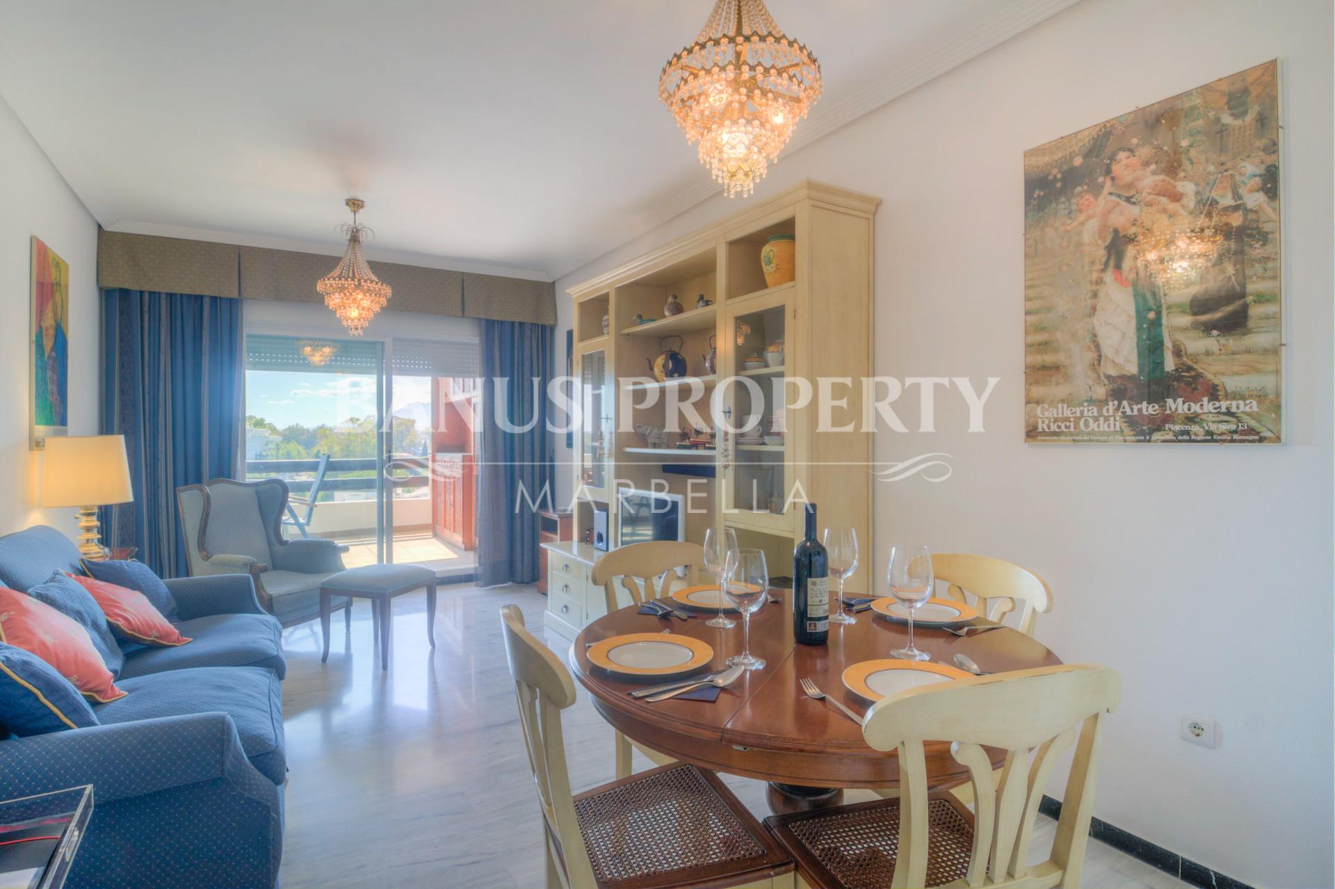 1 bed 5th floor west-facing apartment for rent in Medina Garden, Puerto Banus