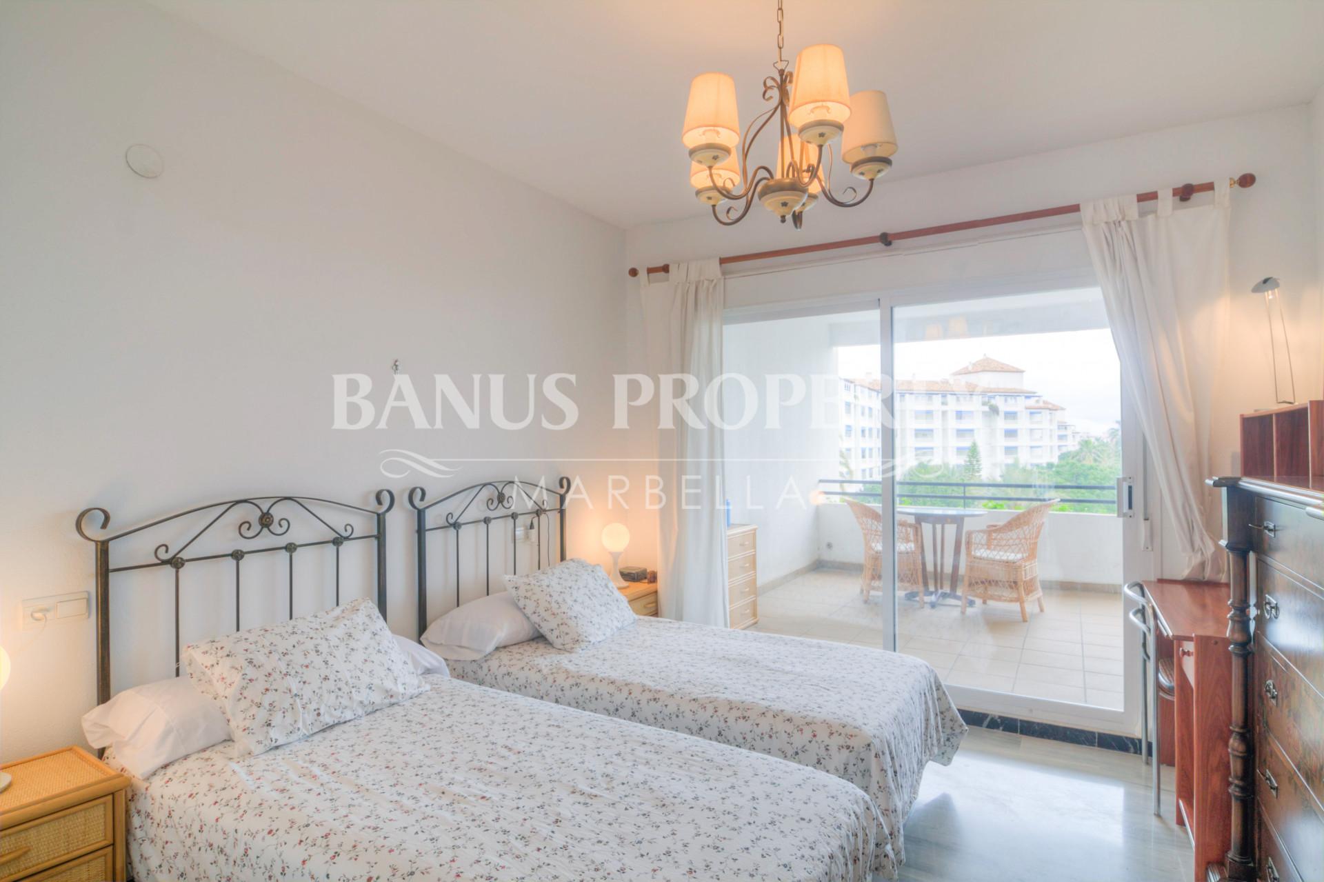 2 bed east facing apartment for rent in Medina Garden, Puerto Banús.