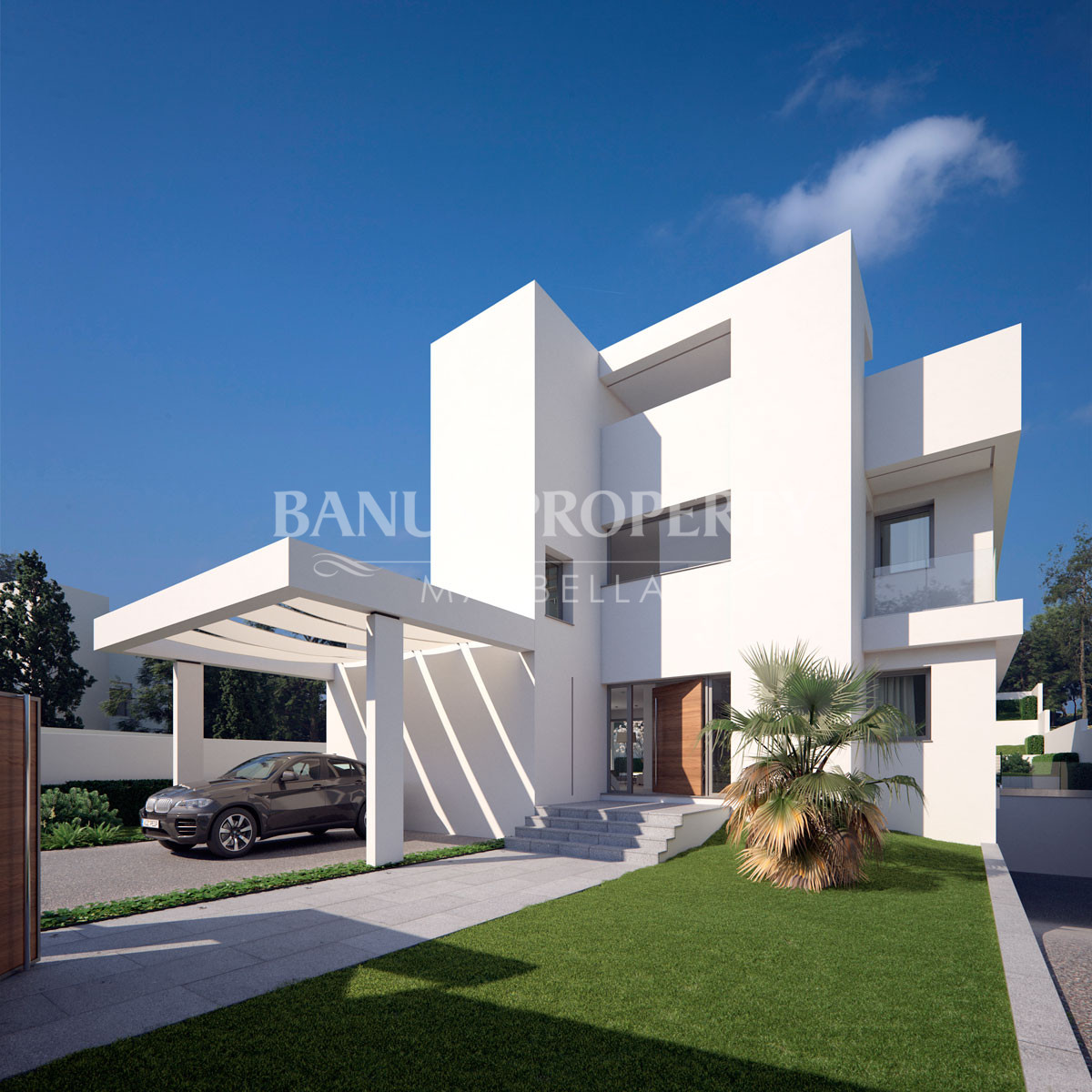 Luxury contemporary four-bedroom villa for sale within walking distance of Puerto Banús