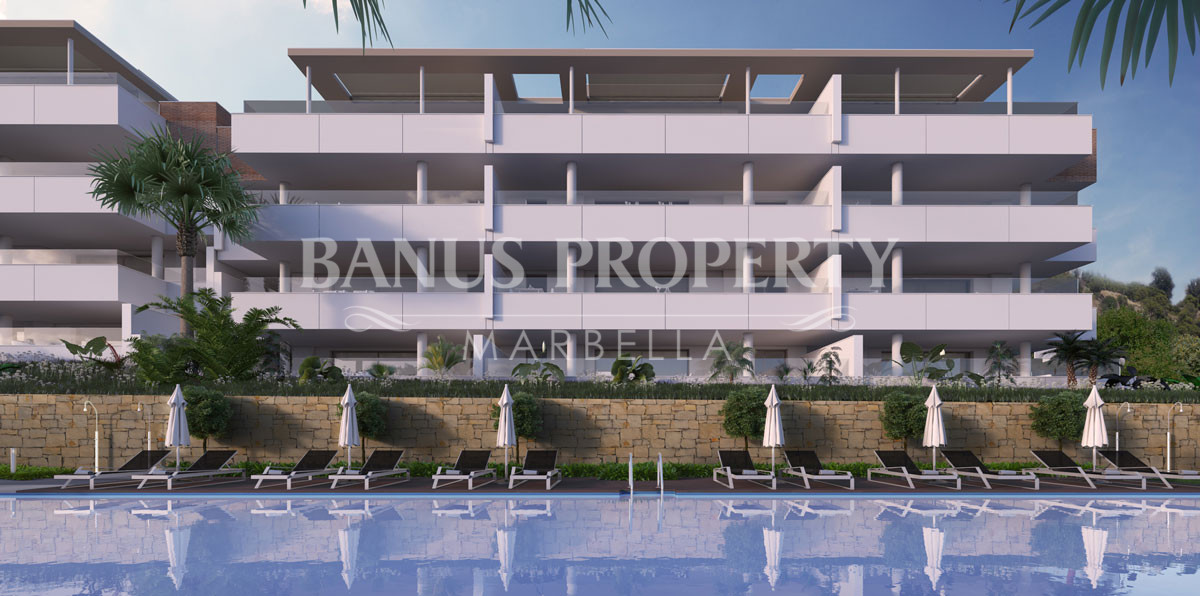Brand new three-bedroom contemporary apartment for sale in La Reserva de Alcuzcuz, five minutes' drive to Puerto Banús