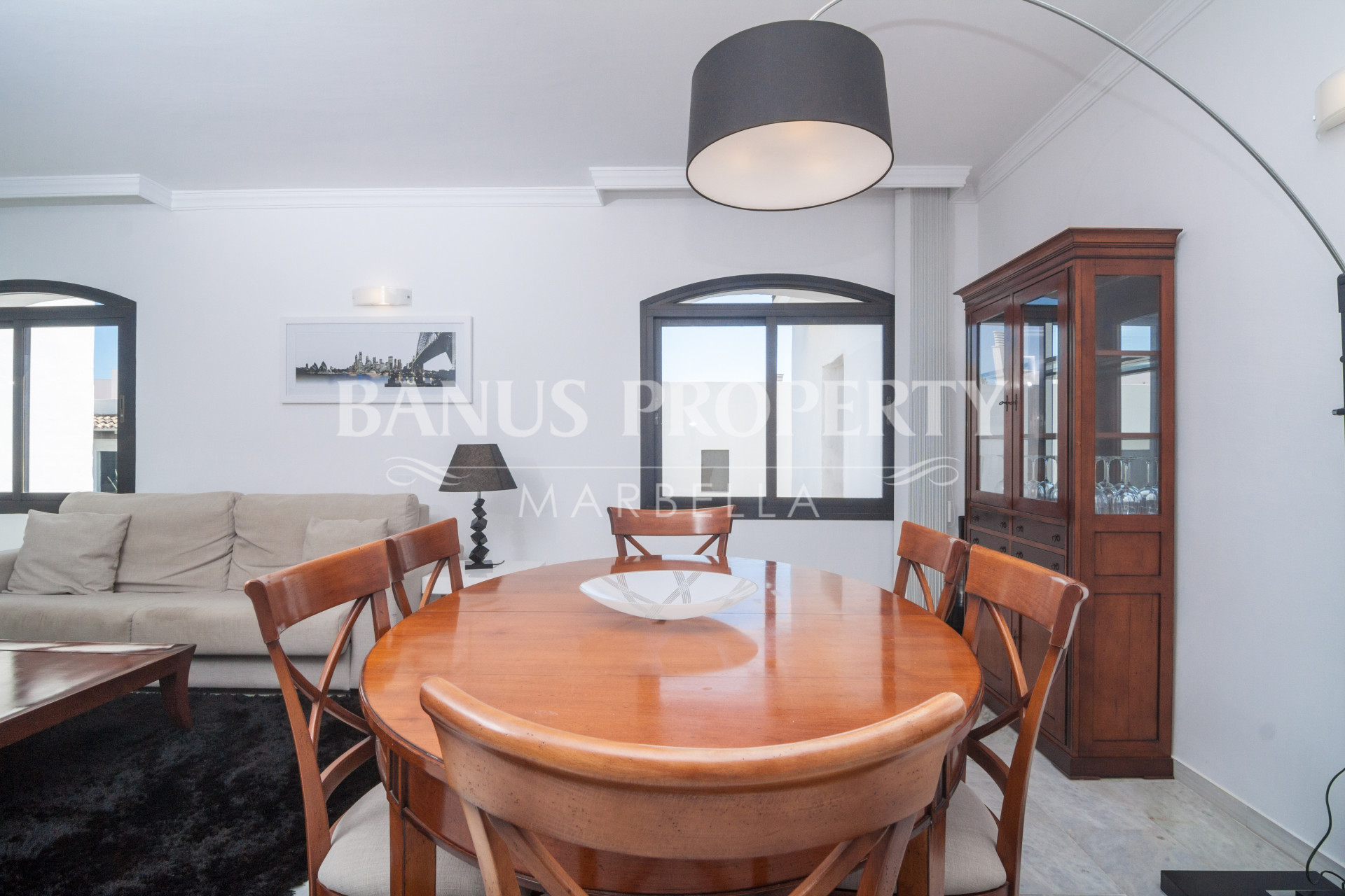 Modern two-bedroom second floor apartment for sale in Casas Cadiz, Playas del Duque, Puerto Banus