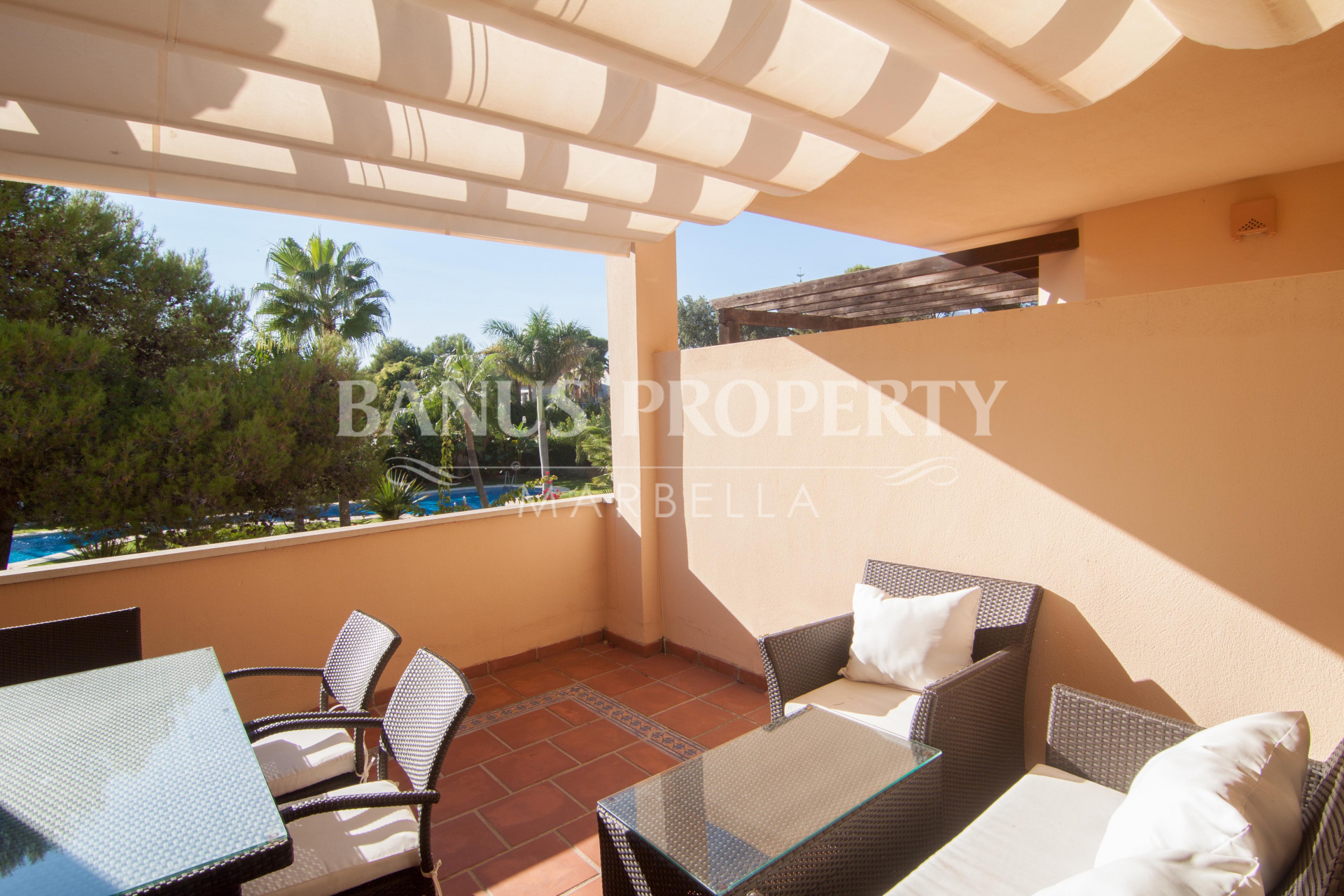 Charming two-bedroom second floor west facing apartment for sale in Las Mimosas, Puerto Banus
