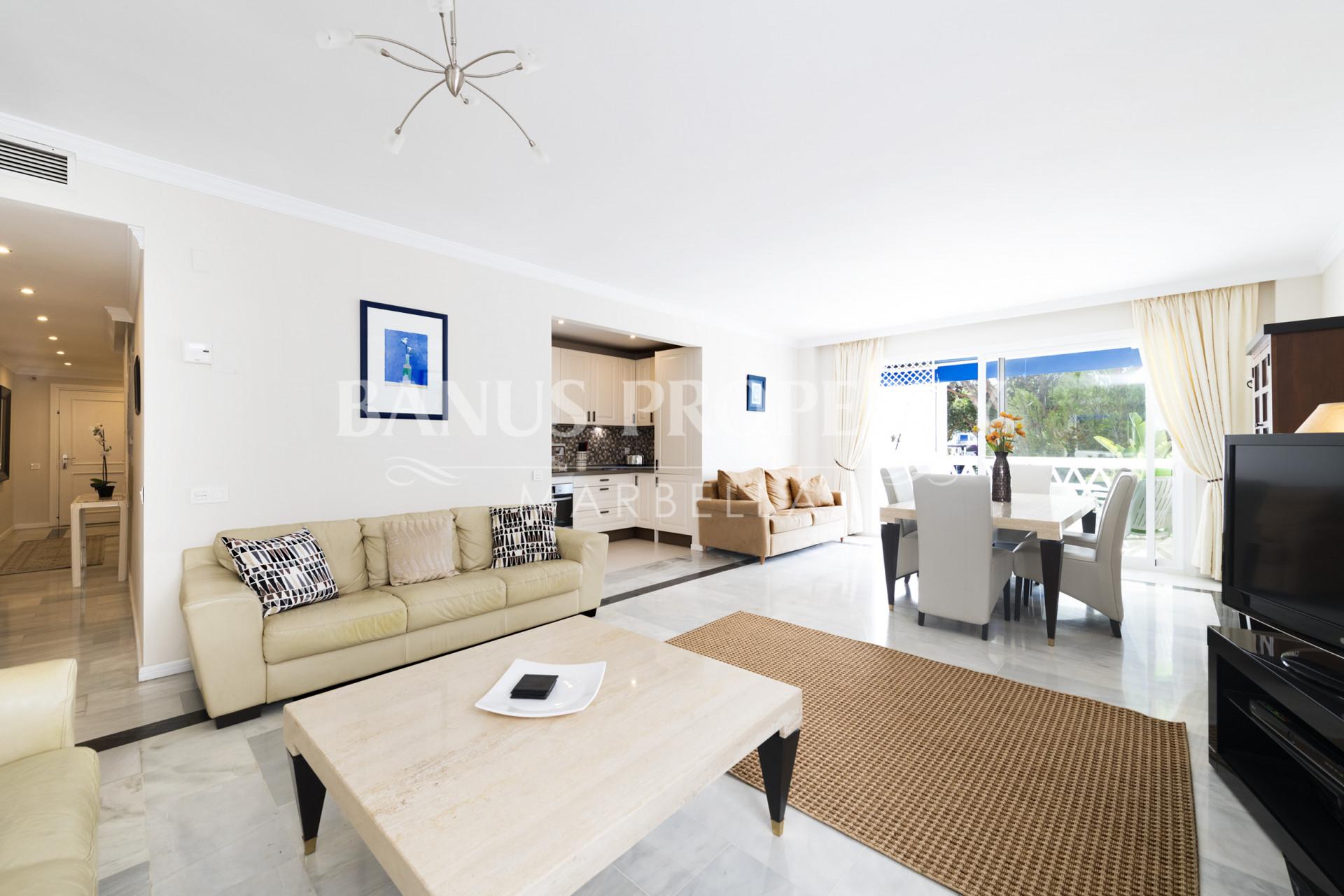 Two-bedroom apartment for sale in Casas Córdoba, within prestigious Playas del Duque in Puerto Banús