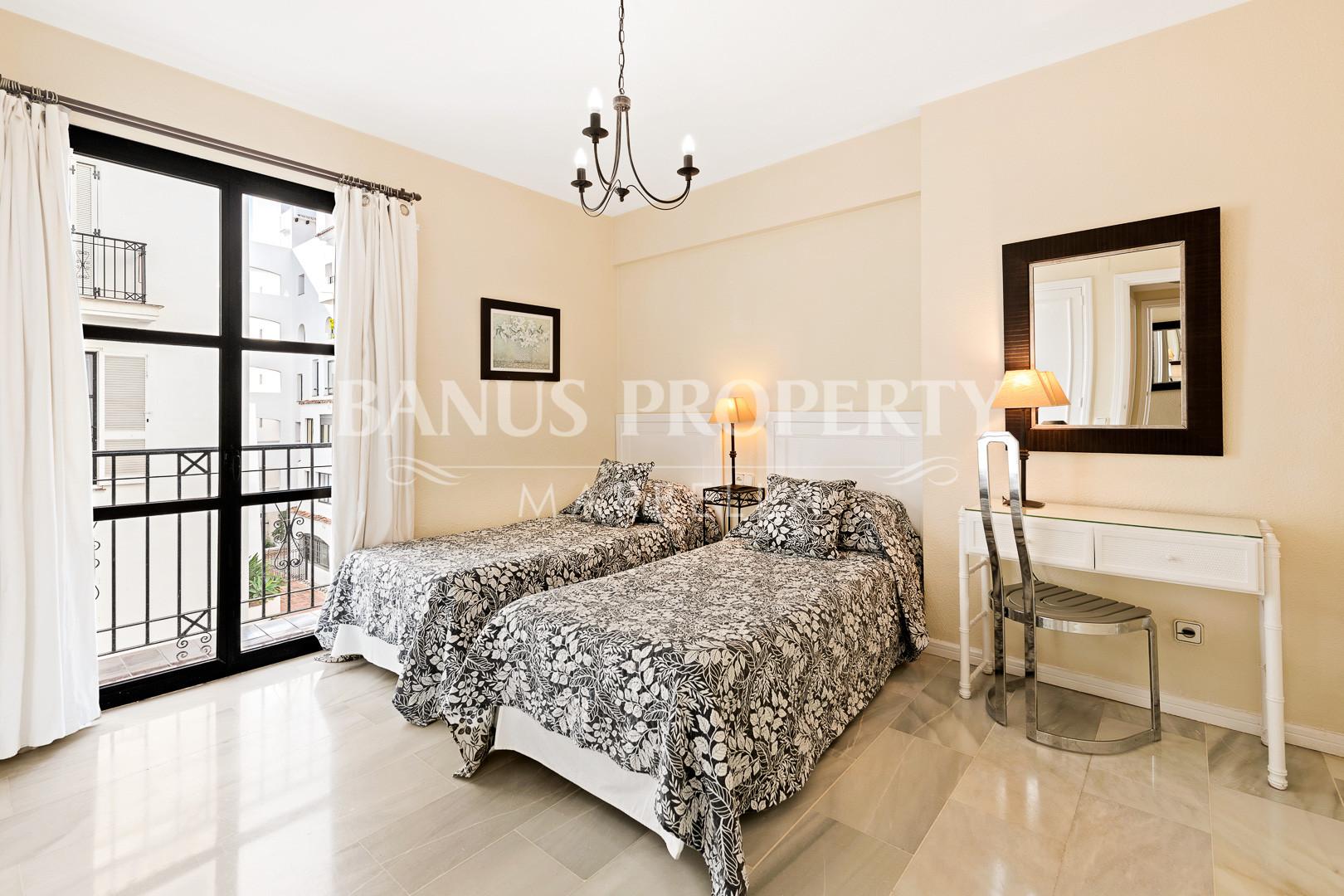2- bedroom apartment in the frontline beach of Playas del Duque- Puerto Banus