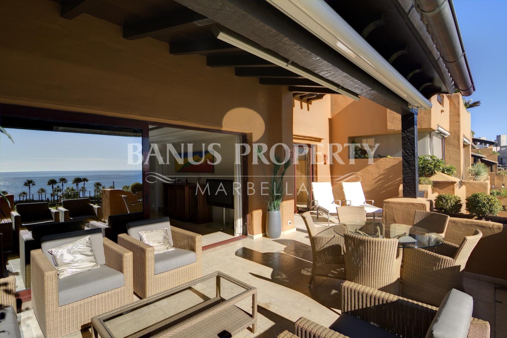 3 bed beach apartment with stunning sea views for sale in Los Granados del Mar, Estepona