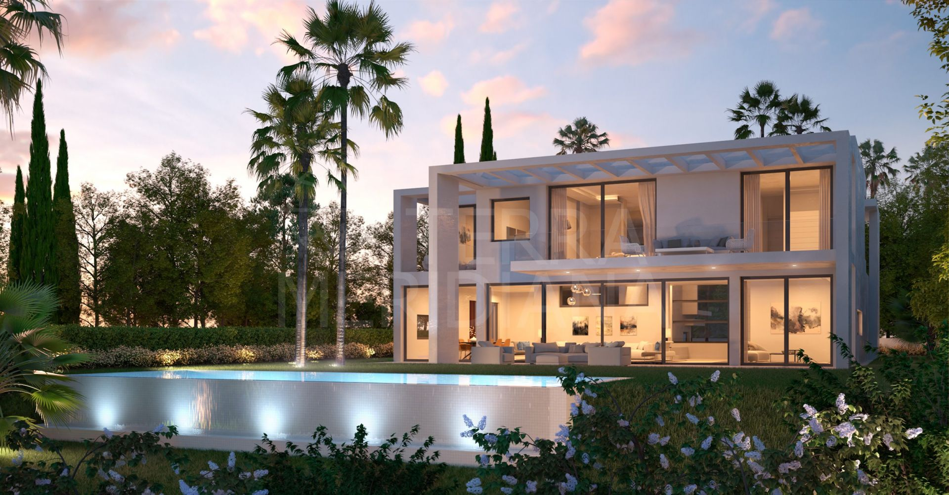 ICON Marbella , Marbella East - New 5 bedroom modern villas in gated community with 24 hour security in Santa Clara, Marbella East