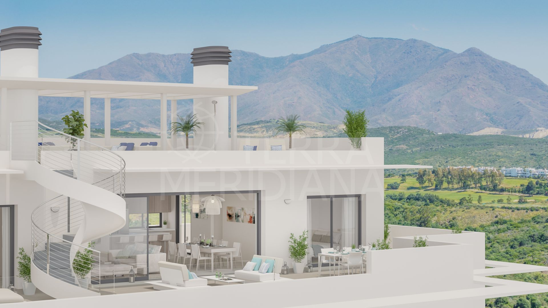 Terrazas de Cortesin Seaviews, Casares - New real estate promotion of apartments, penthouses and townhouses located on a hill within Finca Cortesin