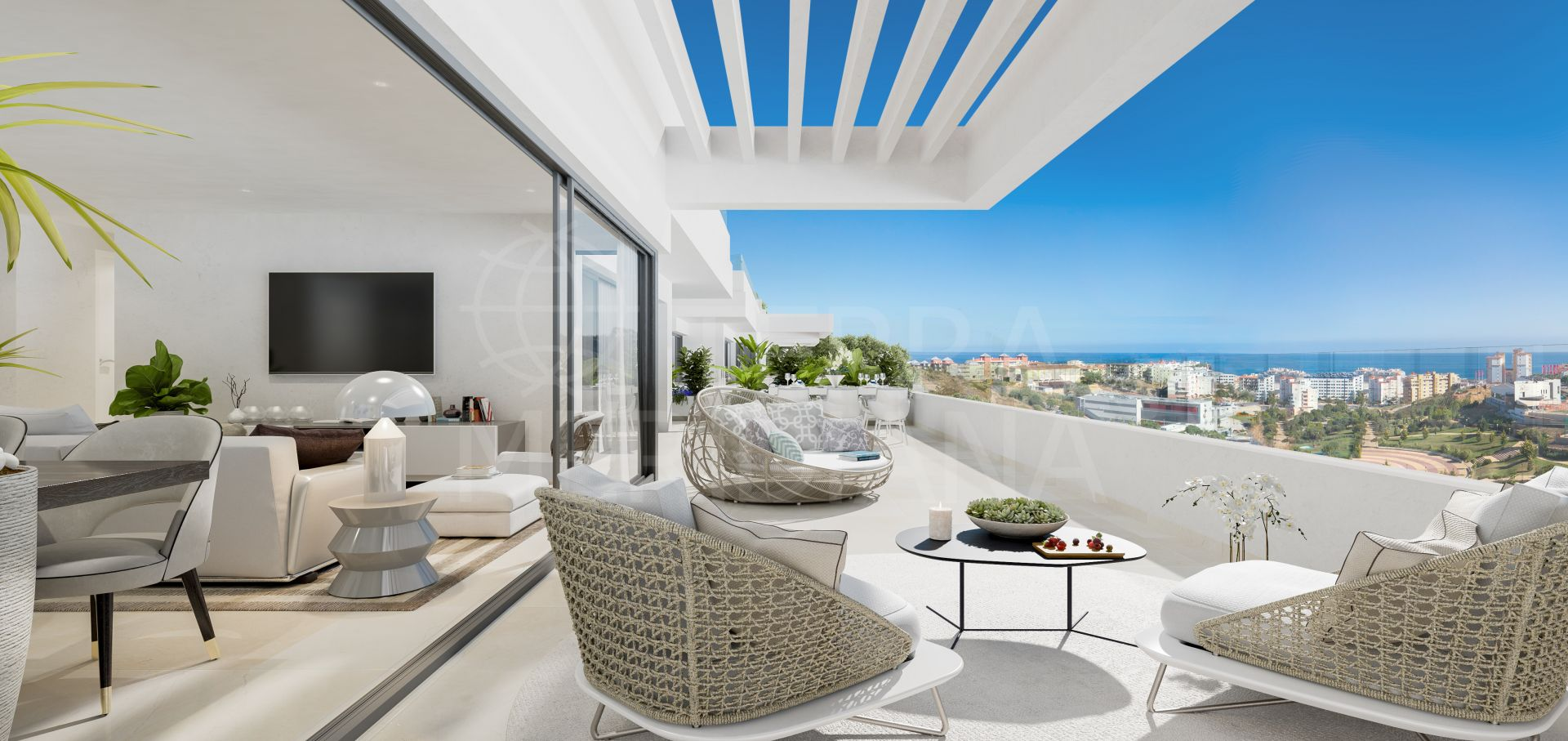 South Bay Estepona, Estepona - South Bay is an inspirational new boutique development of elegant and spacious apartments and penthouses in an elevated position in the heart of Estepona with gorgeous views