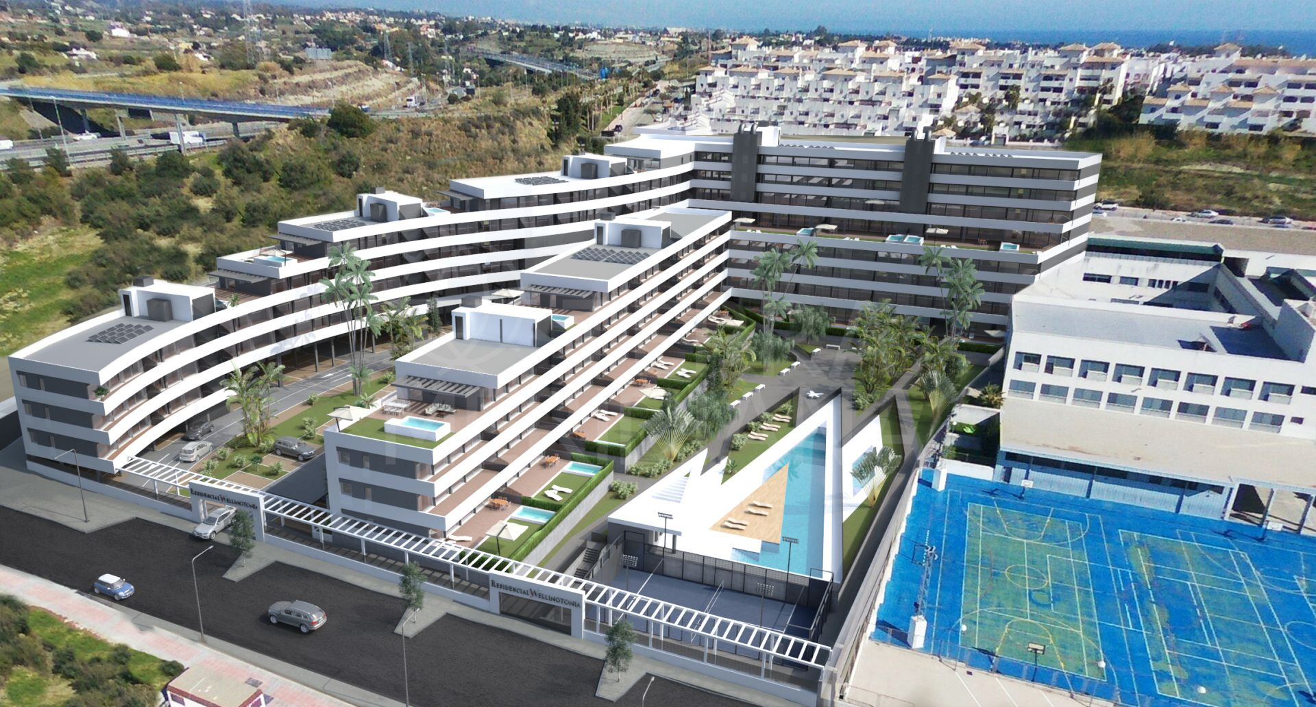 Wellingtonia, Estepona - Superb new development of 110 apartments with 1, 2 and 3 bedrooms near Estepona Centre