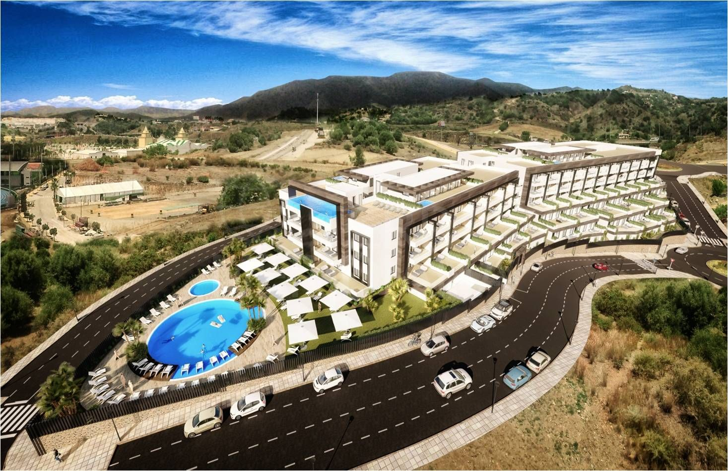Residencial Alcudia, Estepona - New development comprised of 140 apartments located in a prime area in central Estepona