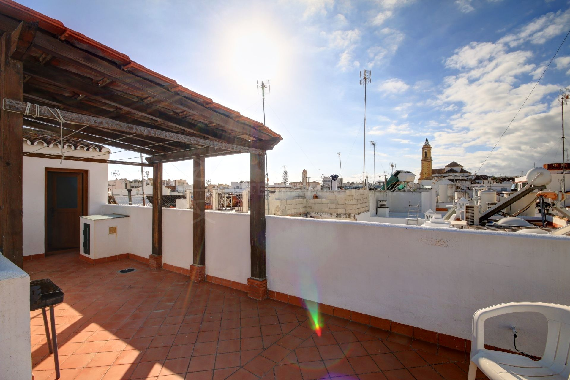 Large Townhouse For Sale With Garage In Estepona Old Town Center, Divided  Into Separate Apartments Ideal For Rentals.