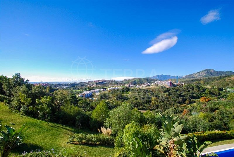 Light filled west facing duplex penthouse with far reaching sea and golf vistas for sale in Los Almendros, Benahavis