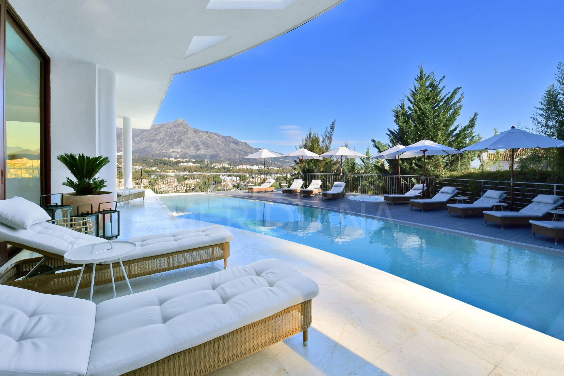 Avantgarde luxury 7 bedroom villa with rooftop terrace and panoramic views for sale in Nueva Andalucia, Marbella