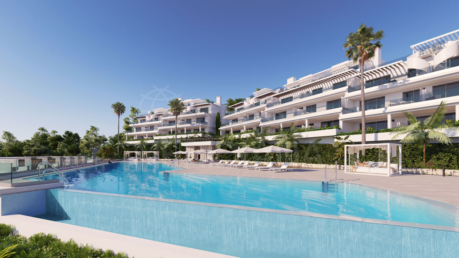 Contemporary off-plan penthouse with solarium in the luxury development of Oceana Views, Cancelada, New Golden Mile, Estepona
