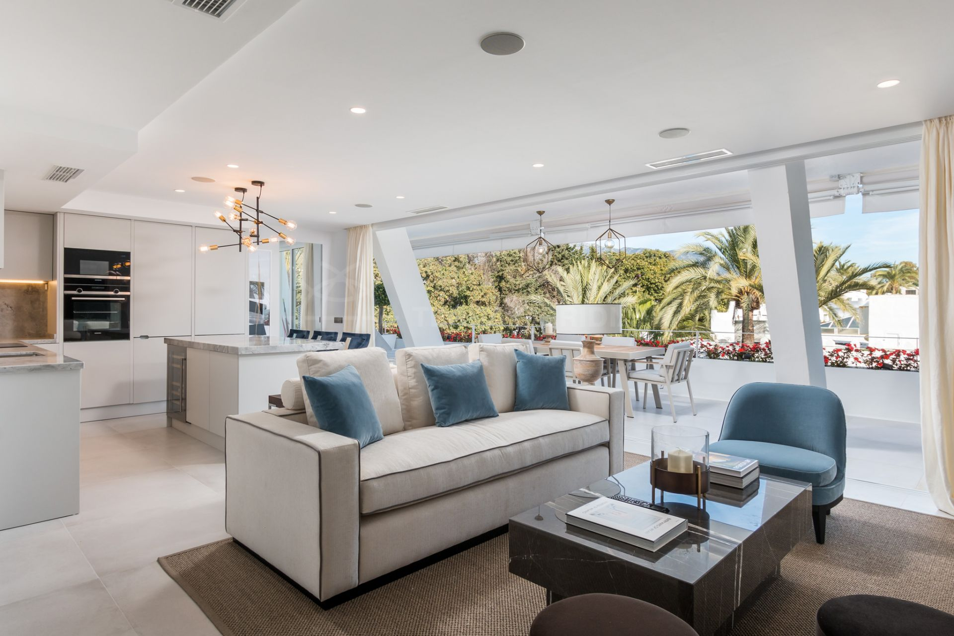 13af63e91c141 Exquisite apartment with postcard-perfect beach and sea views for sale in  the seafront development of Port Oasis, Marbella Golden Mile