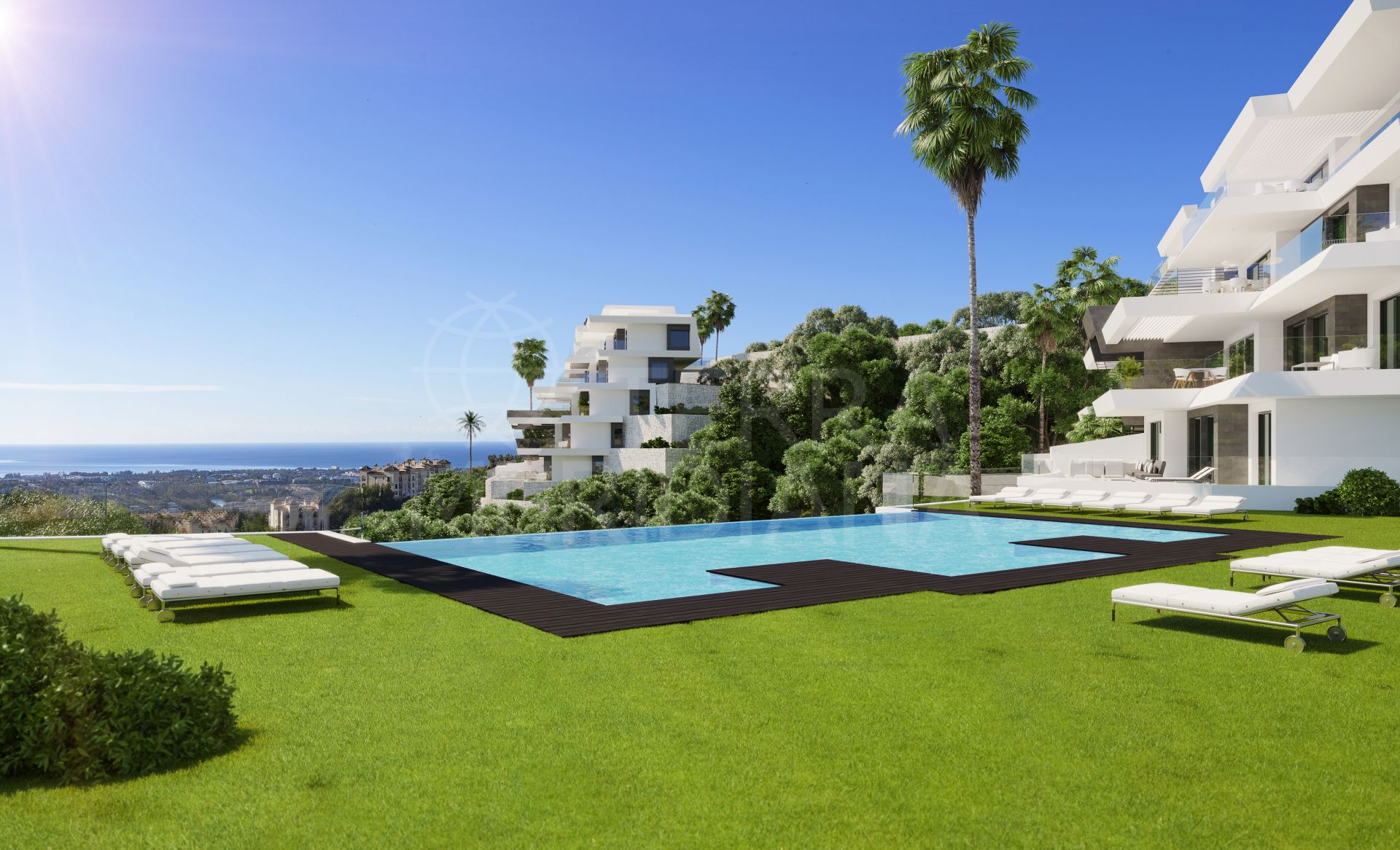 Off plan contemporary 3 bedroom penthouse apartment with extraordinary views for sale in BYU Hills, Benahavis