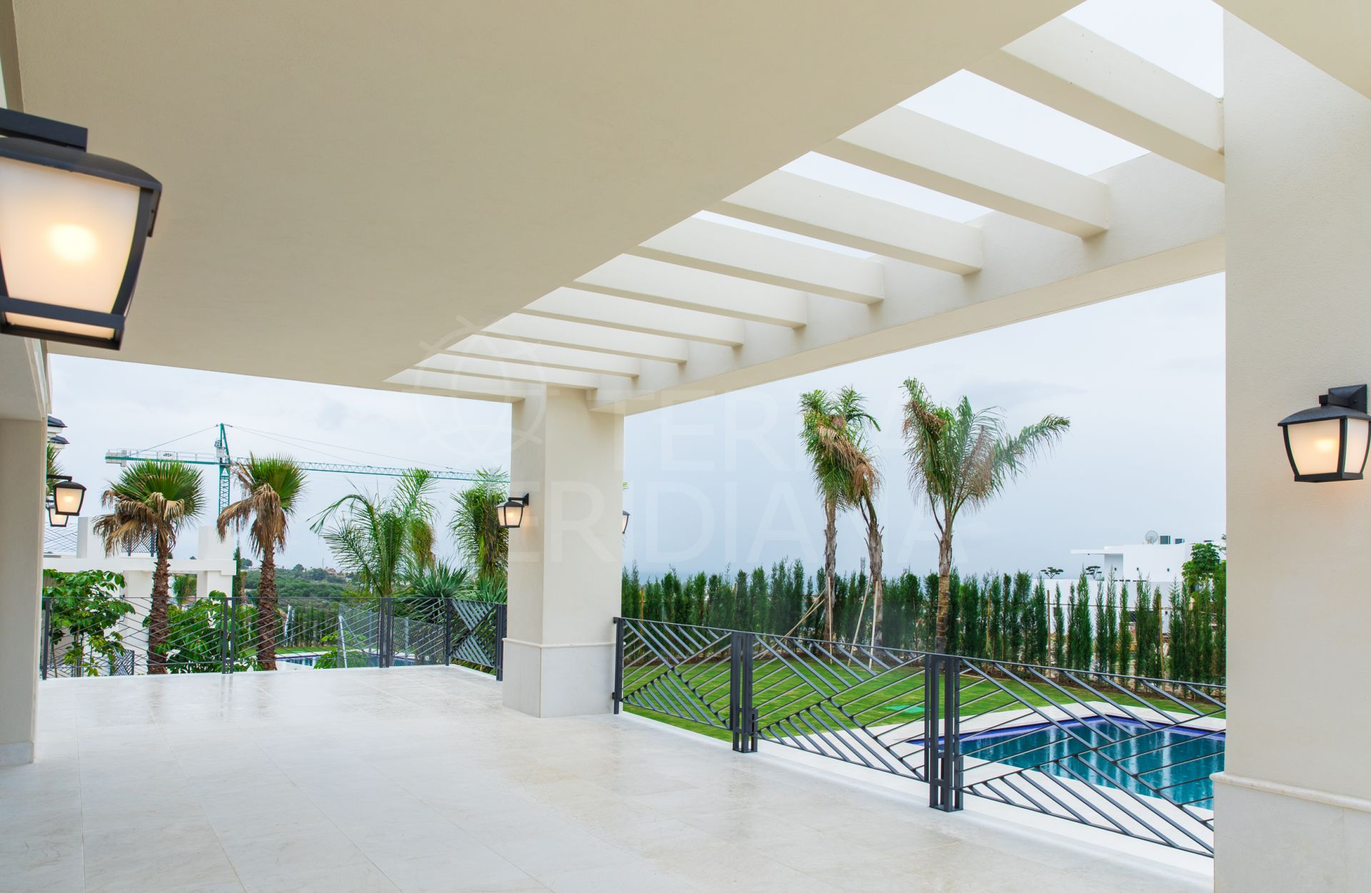 Newly built luxury euro-contemporary villa on a corner plot for sale in prime Los Flamingos Golf, Benahavis