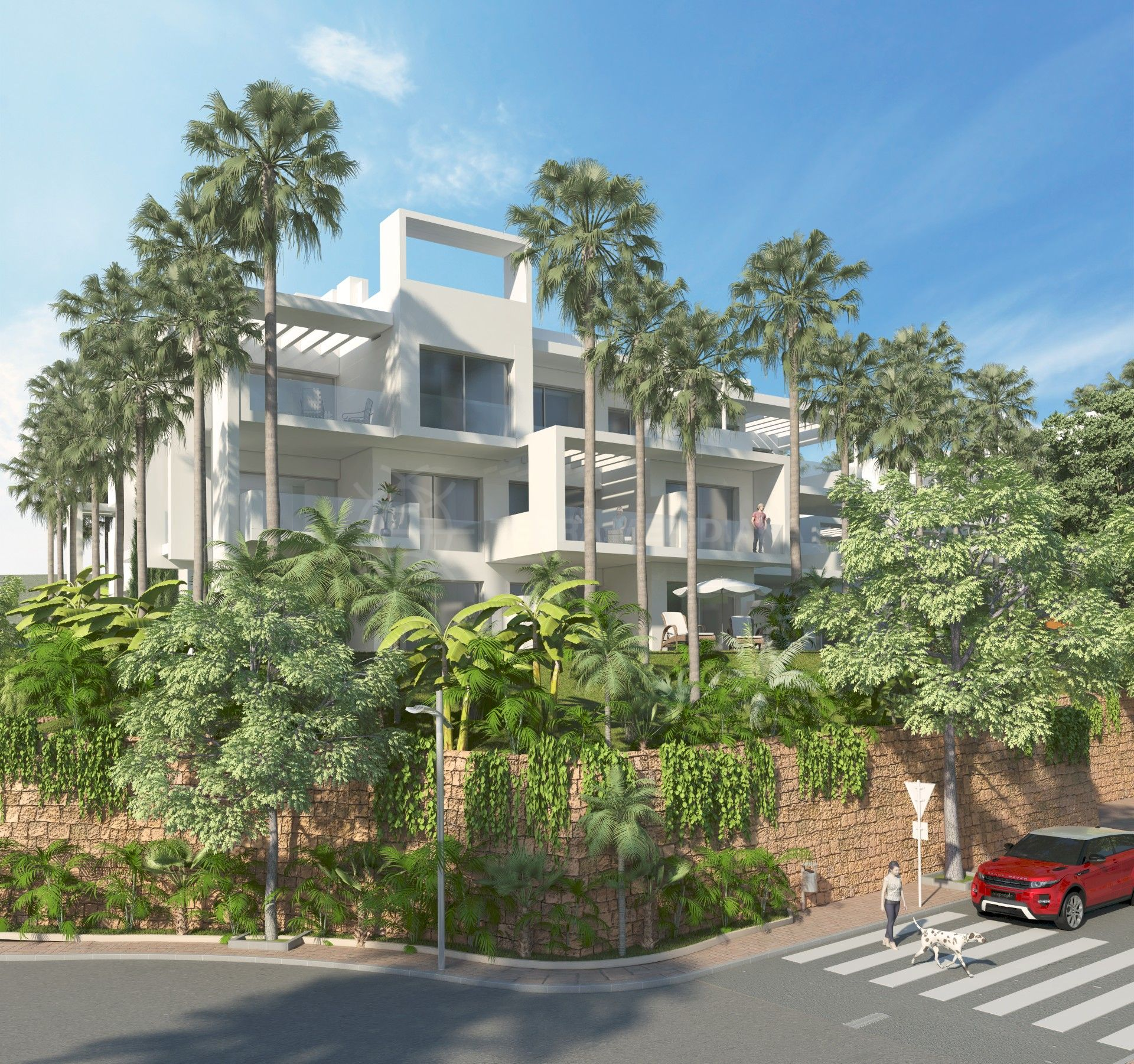 off-plan 2 bedroom ground floor apartment for sale in estepona with