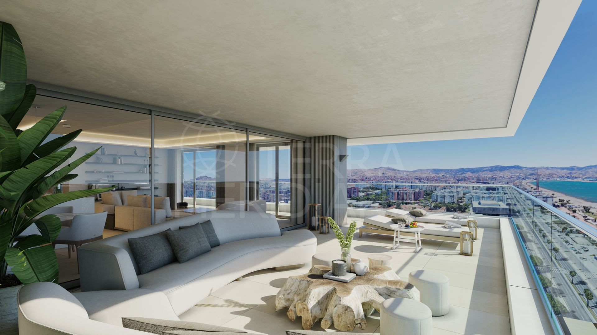 Off plan seafront apartment for sale in Picasso Towers, Malaga