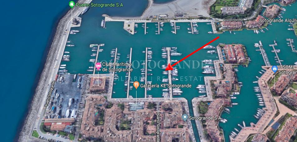 Amarre de 15 metros a la venta en el Puerto de Sotogrande, Embarcadero 5