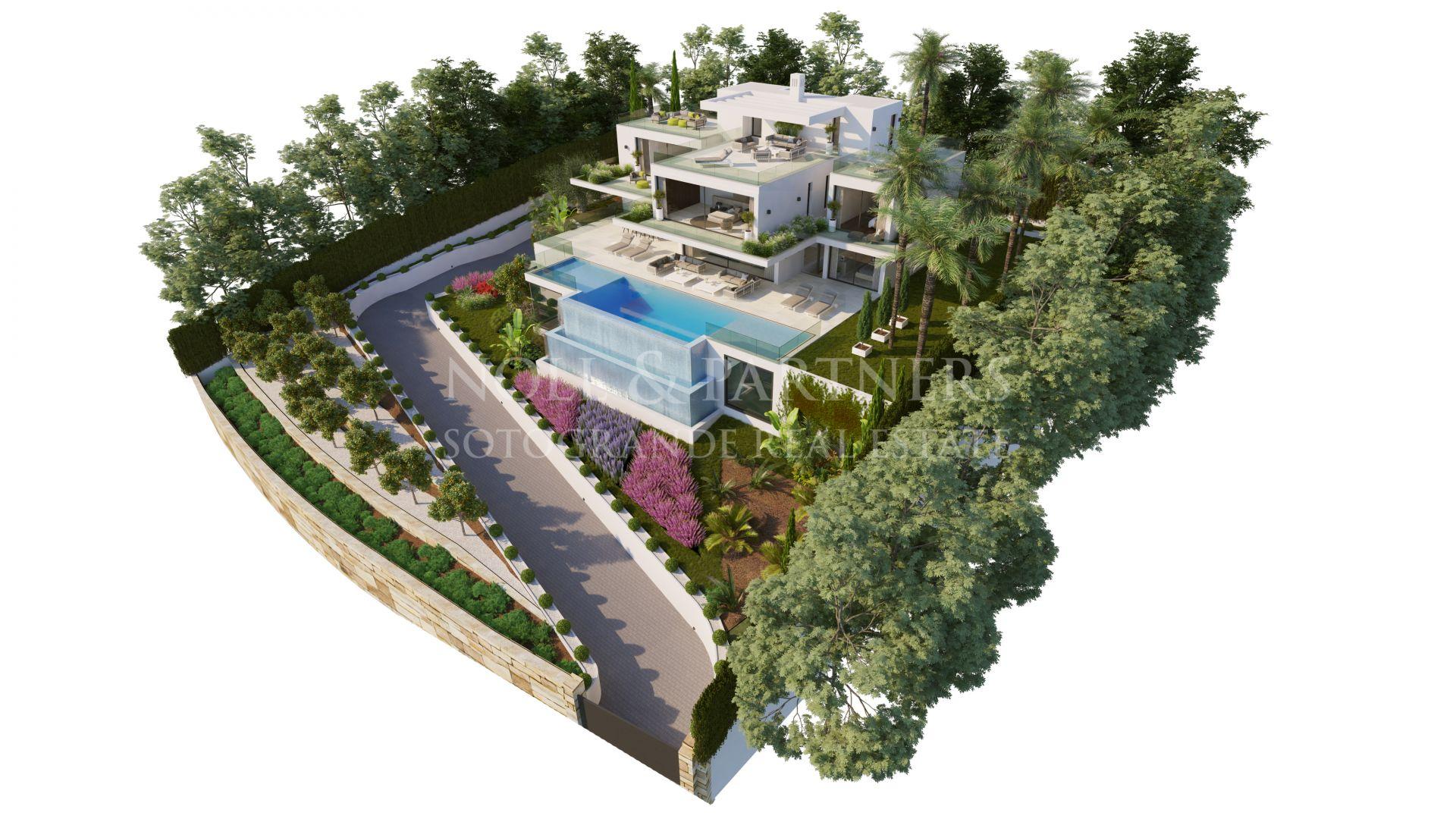 Contemporary villa with sea views for sale Sotogrande