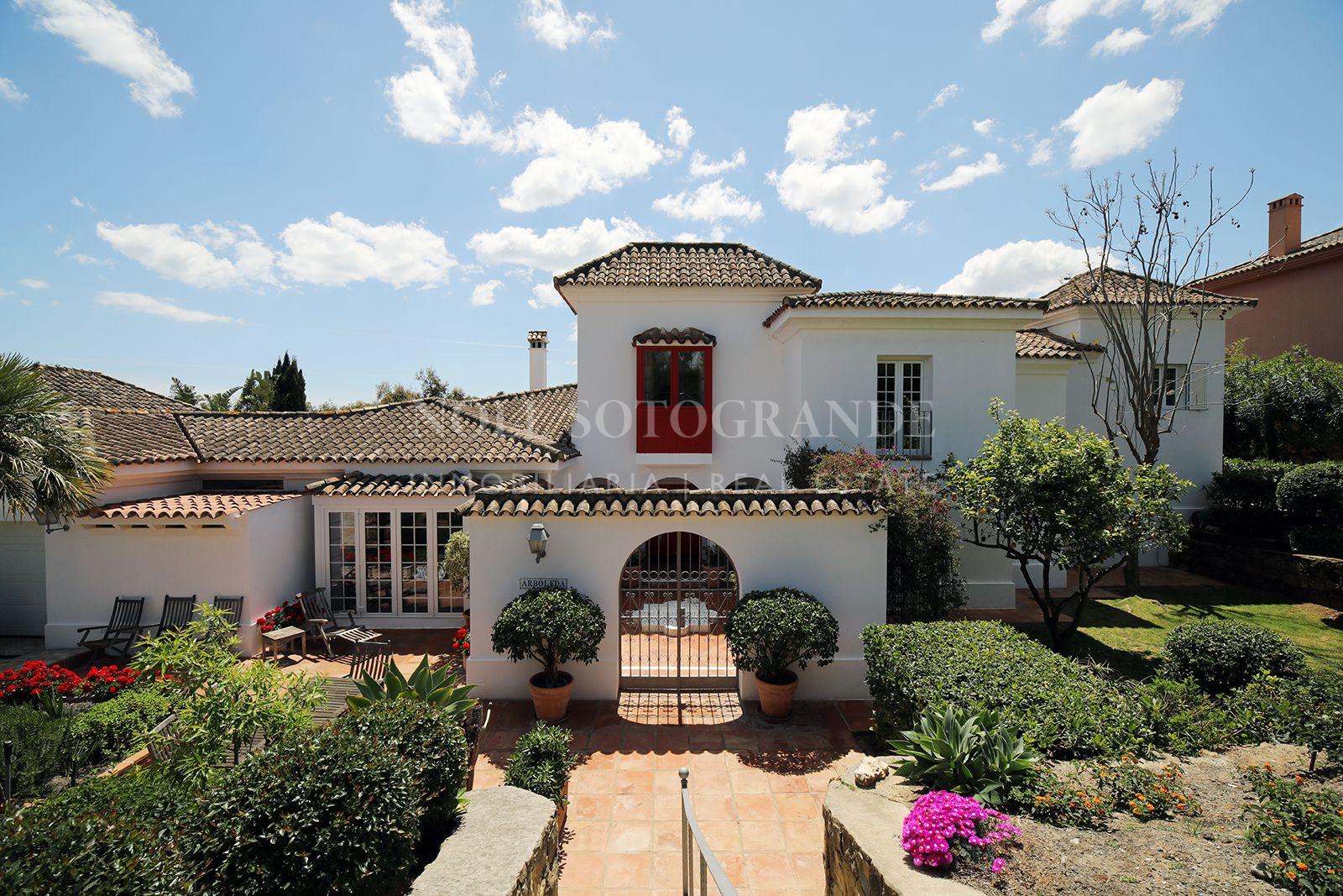 Spacious family villa for sale in Sotogrande.