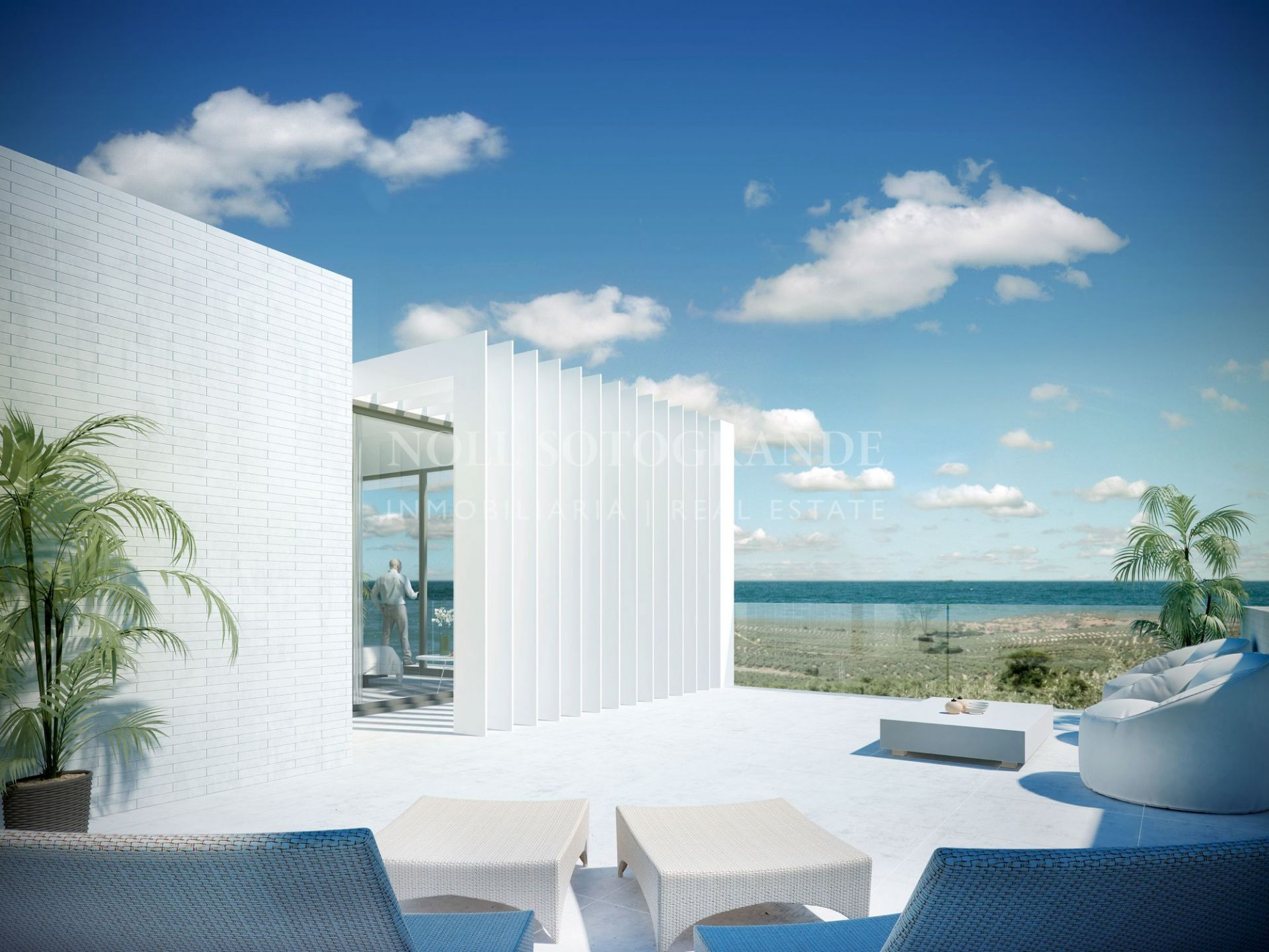 Luxury and contemporary townhouses with sea views Sotogrande