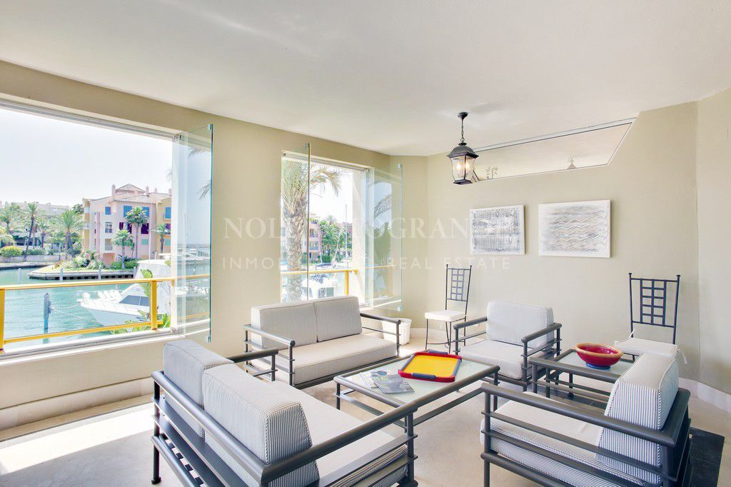 Marina Sotogrande apartment for sale with extra large terrace
