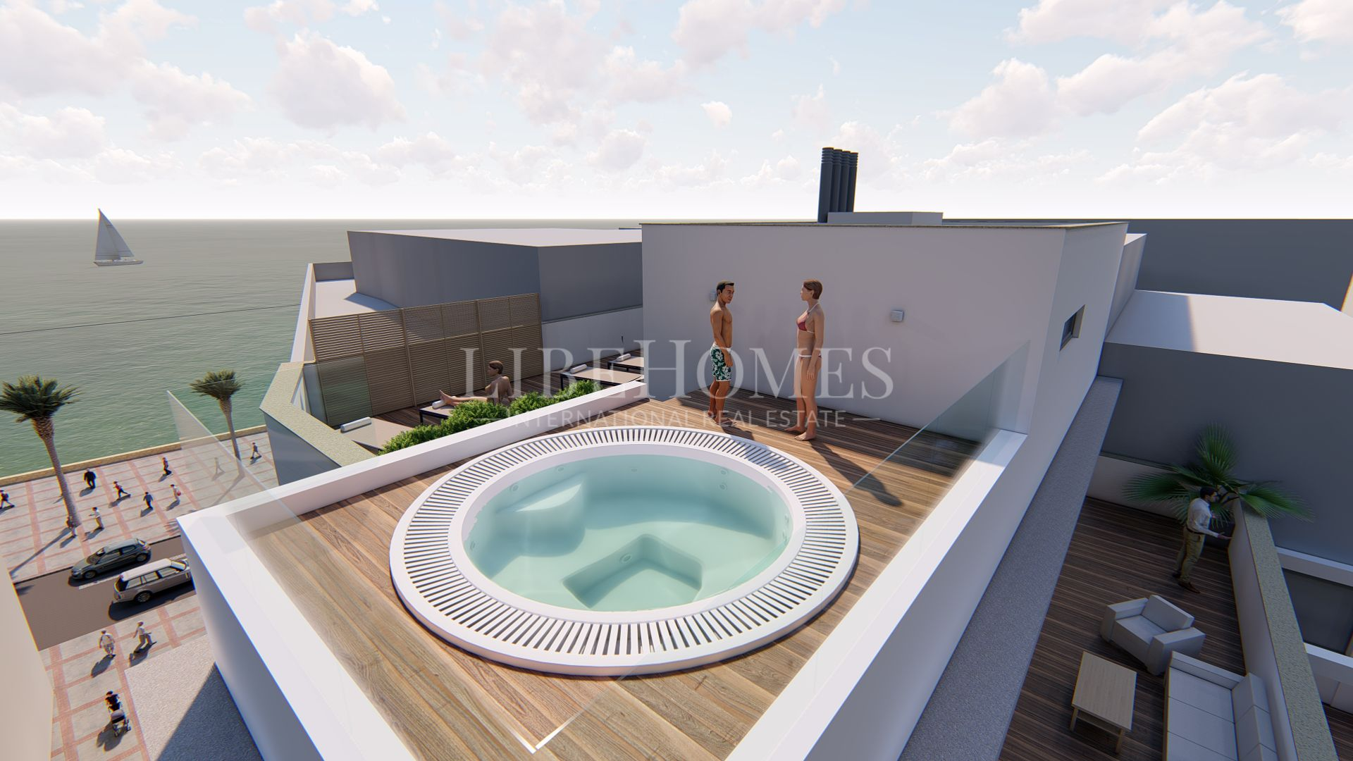 New apartment development in Estepona downtown, 50 mt from beach