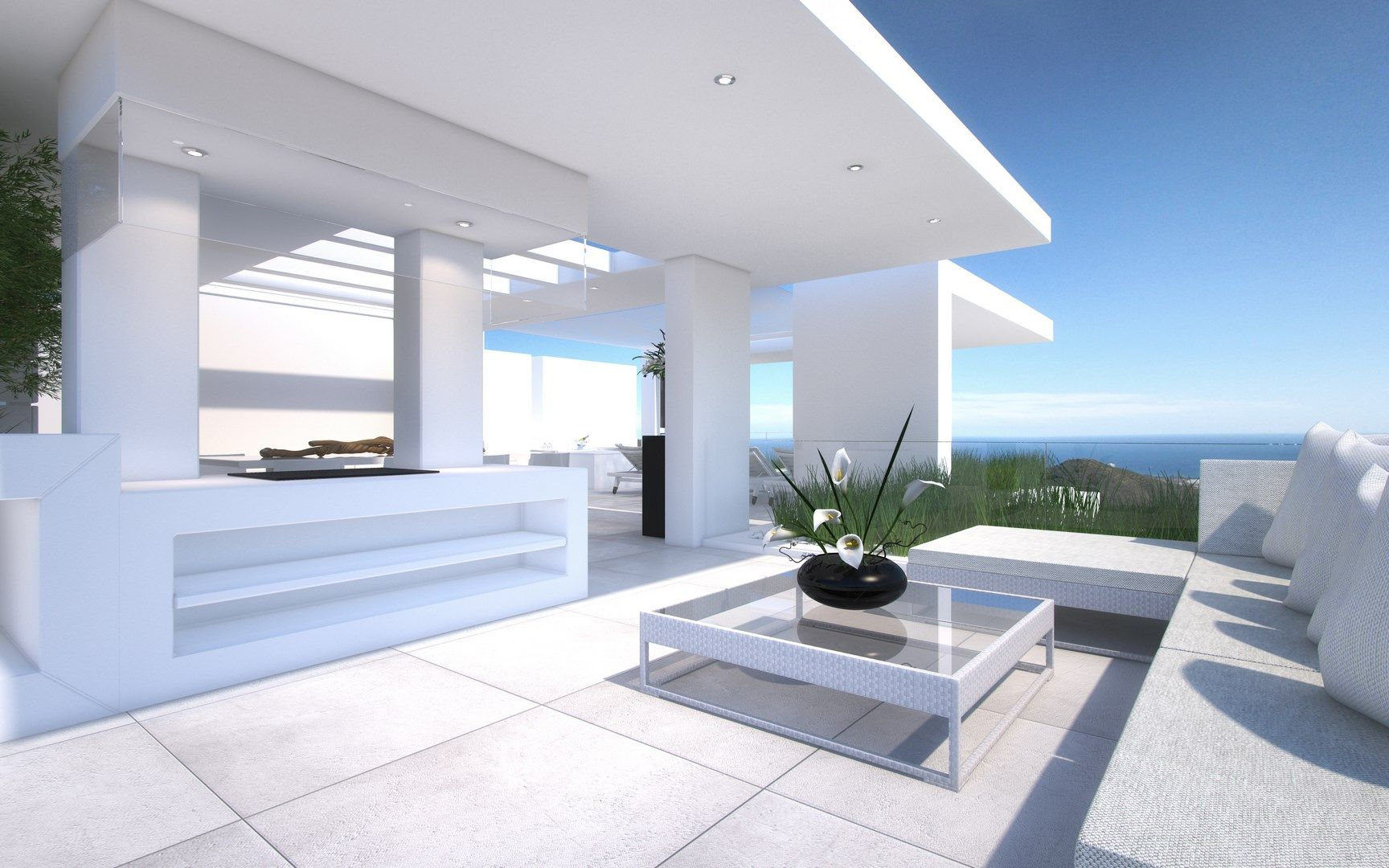 Modern sea view apartments for sale above Marbella Centre