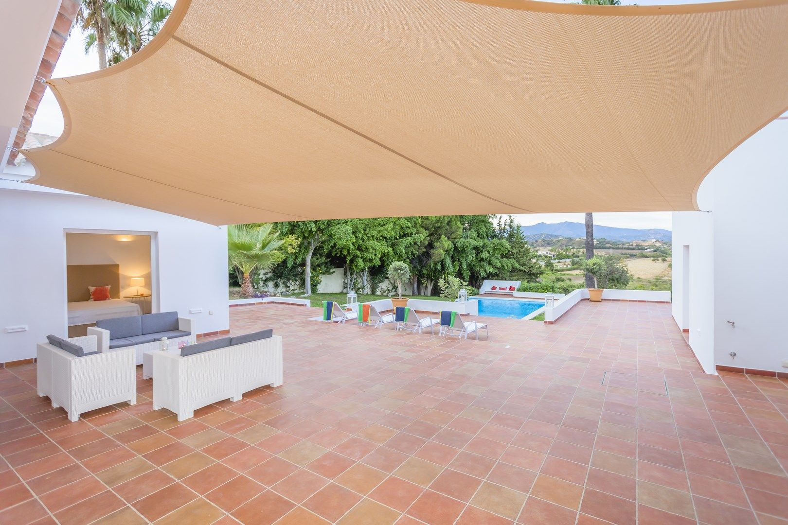 Modern villa with large plot for sale in Estepona