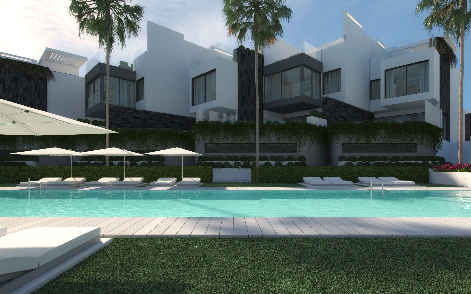 State-of-the-art townhouses for sale in Estepona