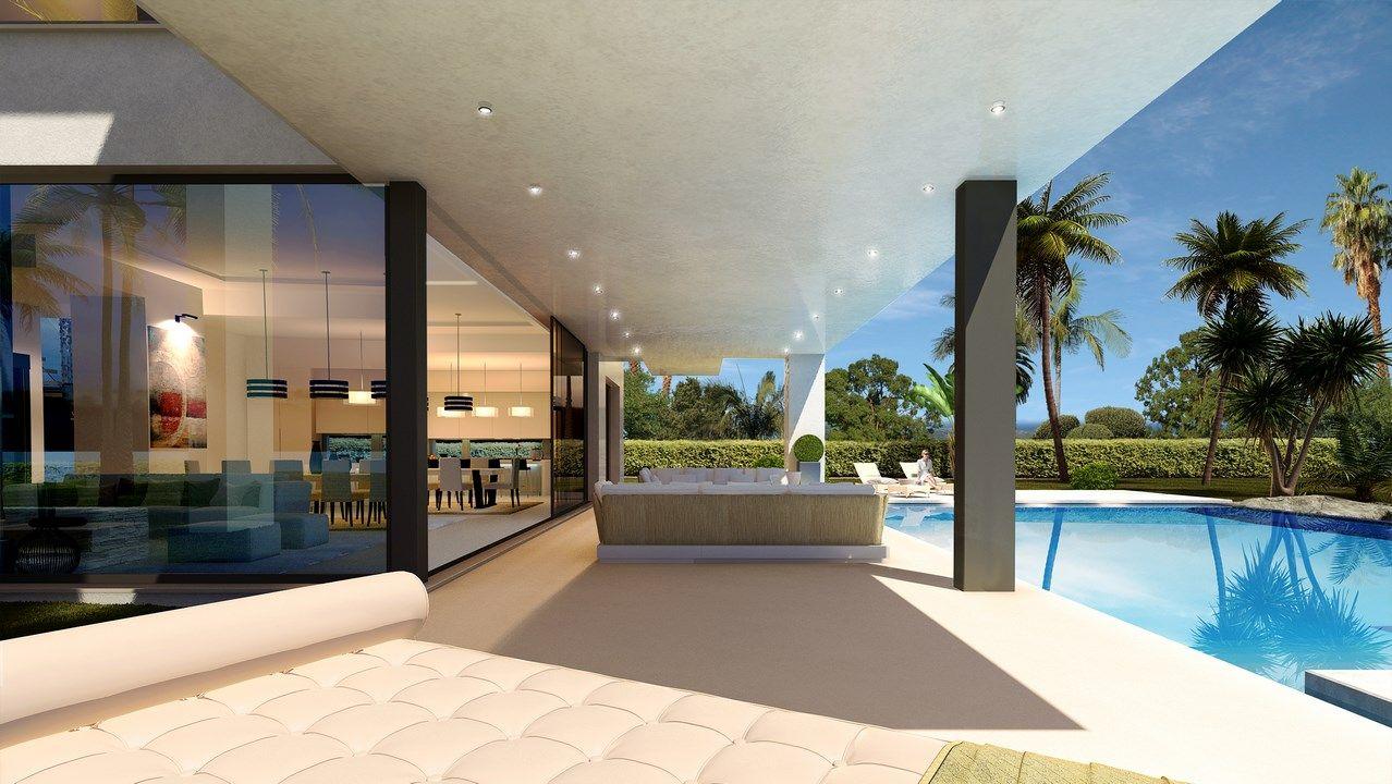 Moderne Villen in Bestlage mit Meerblick zu verkaufen in Marbella ...
