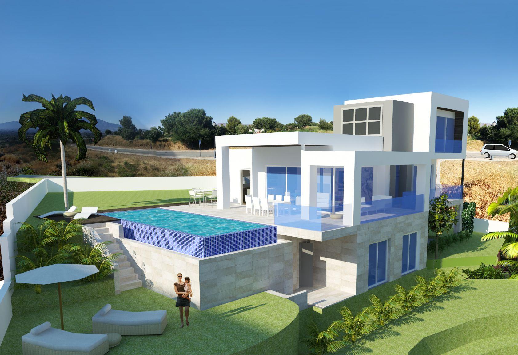 Neubauprojekt f r villen in la cala golf resort mit blick for Moderne villen