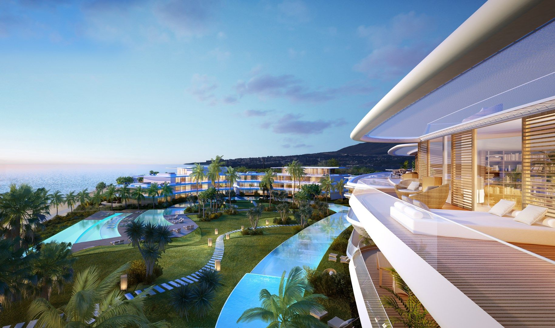 Front line beach Apartments and Penthouses for sale in Estepona
