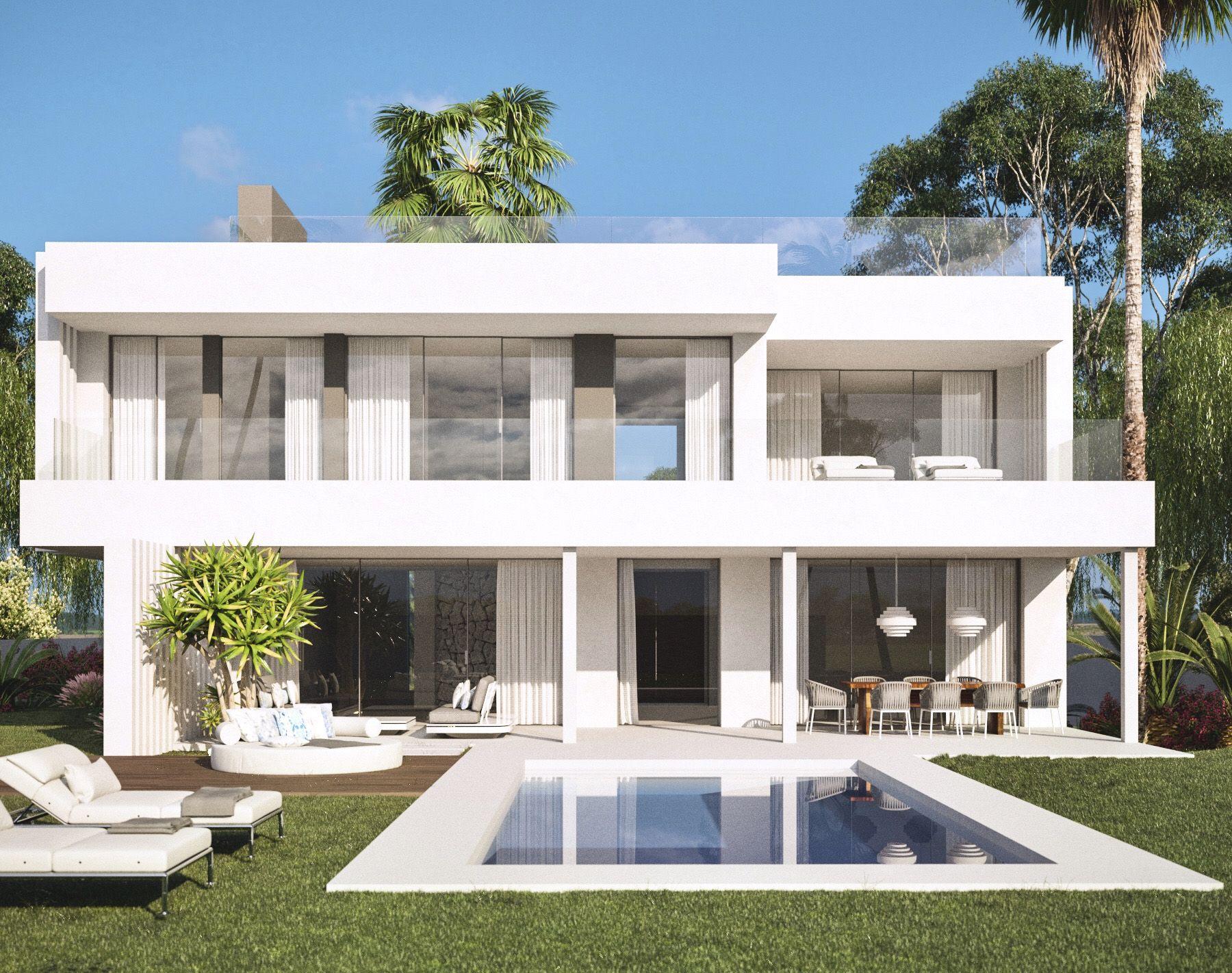 projekt f r moderne villen mit meerblick zu verkaufen in cancelada bei estepona. Black Bedroom Furniture Sets. Home Design Ideas