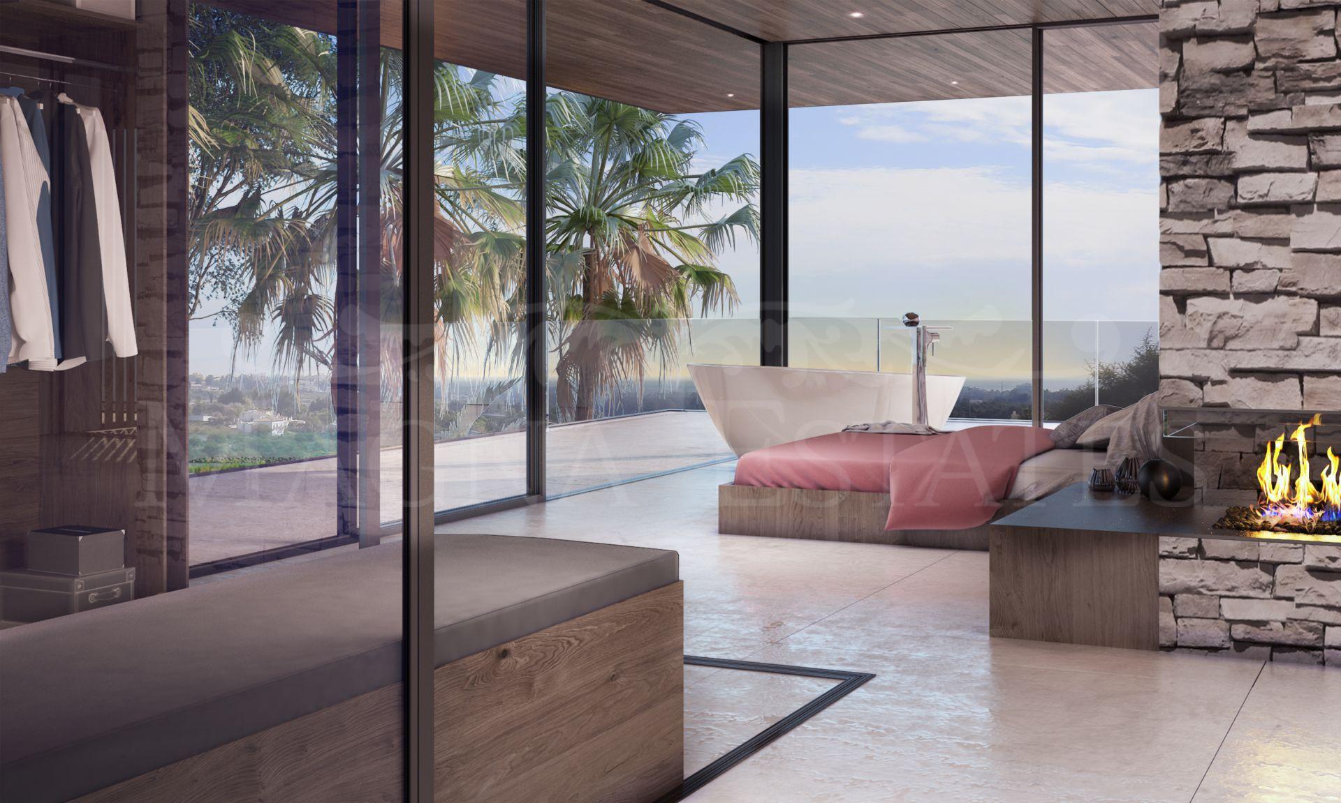 Contemporary design villa project in Puerto del Almendro, Benahavís