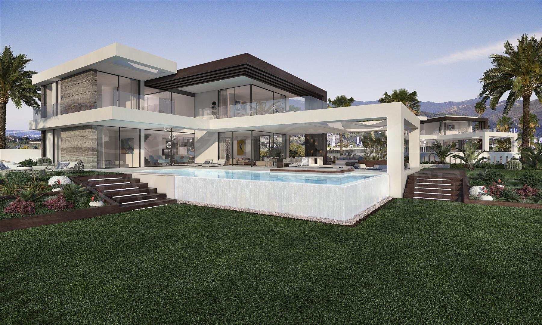 Project of contemporary design villas in Cancelada