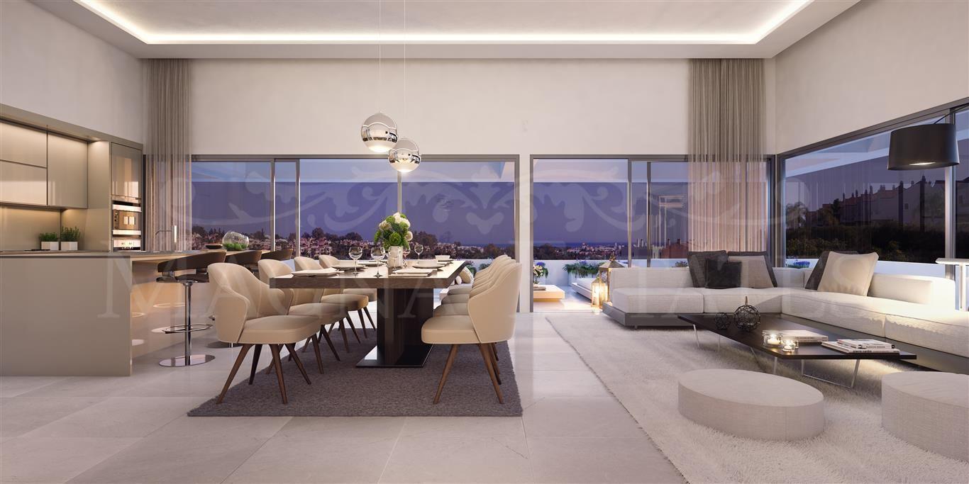 Newly built apartments in El Campanario, New Golden Mile